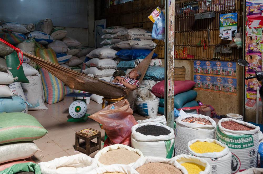 Markt in Siem Reap Kambodscha