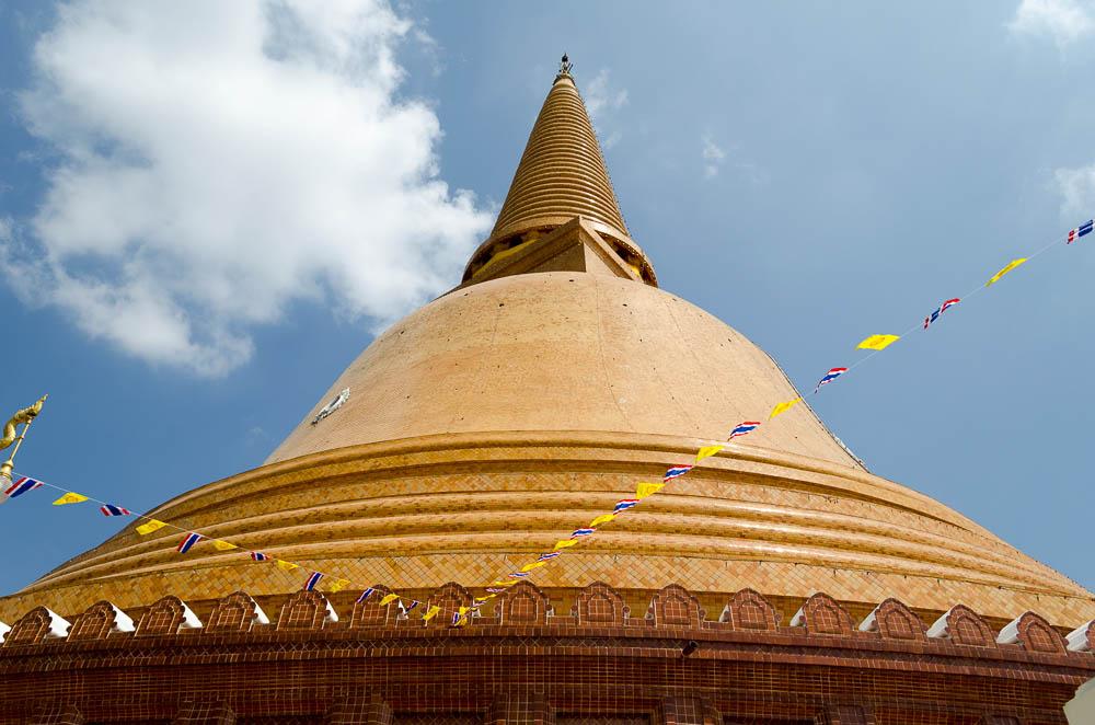 Höchster Chedi, Thailand bei Bangkok