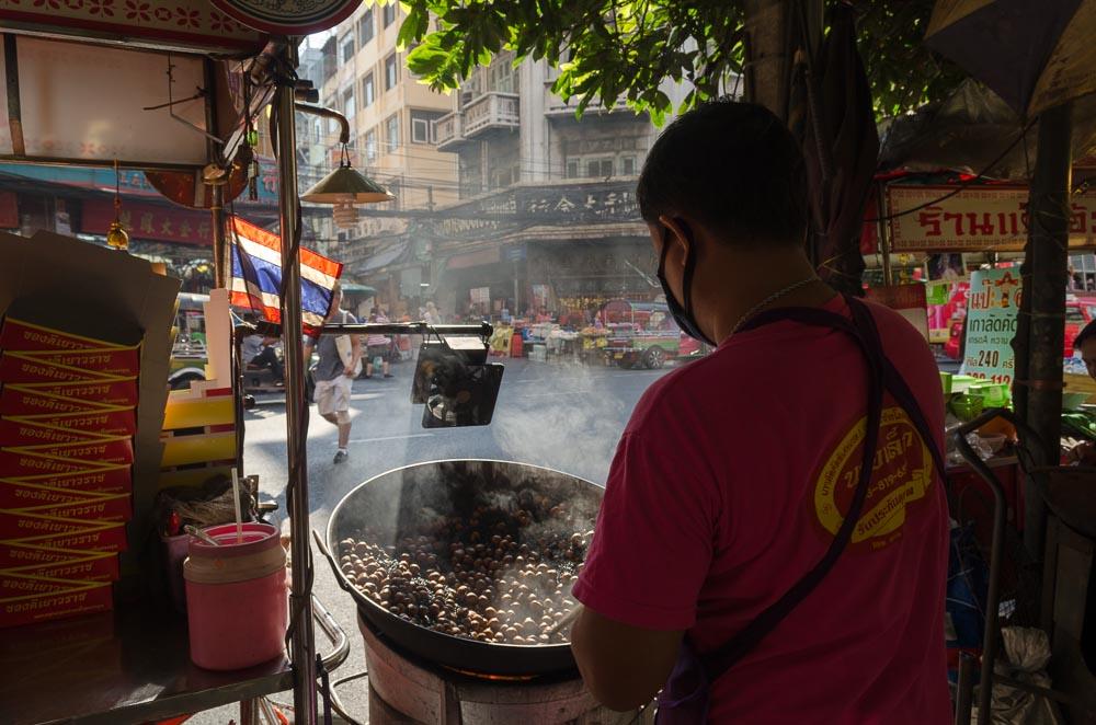 Strassenverkäufer in Bangkog Chinatown