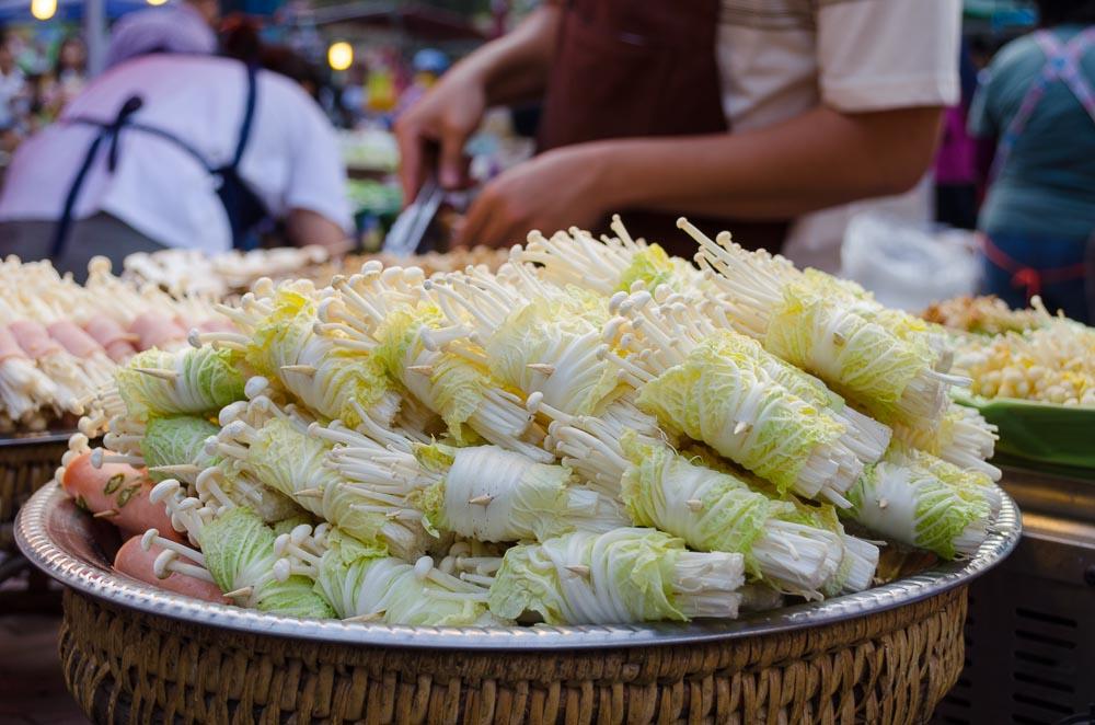 Nachtmarkt Thailand vegetarisch