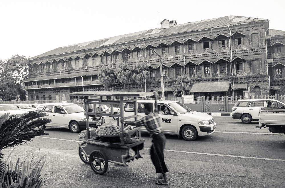 strassenverkäufer Yangon