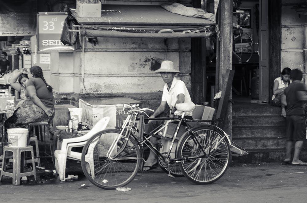 Fahrrad Taxi Yangon