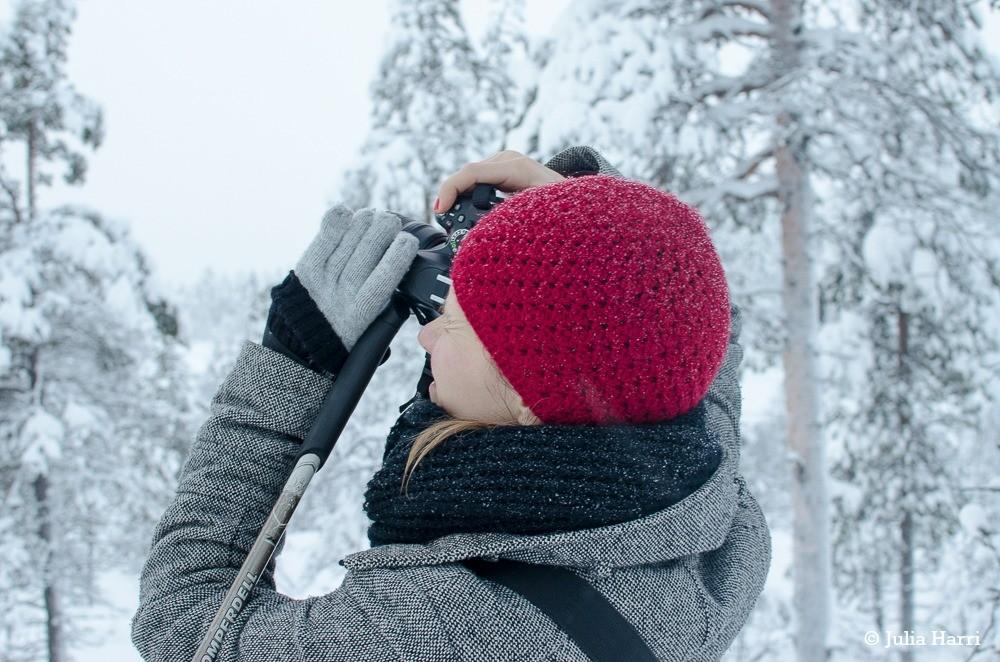Schnee fotografieren in Lappland