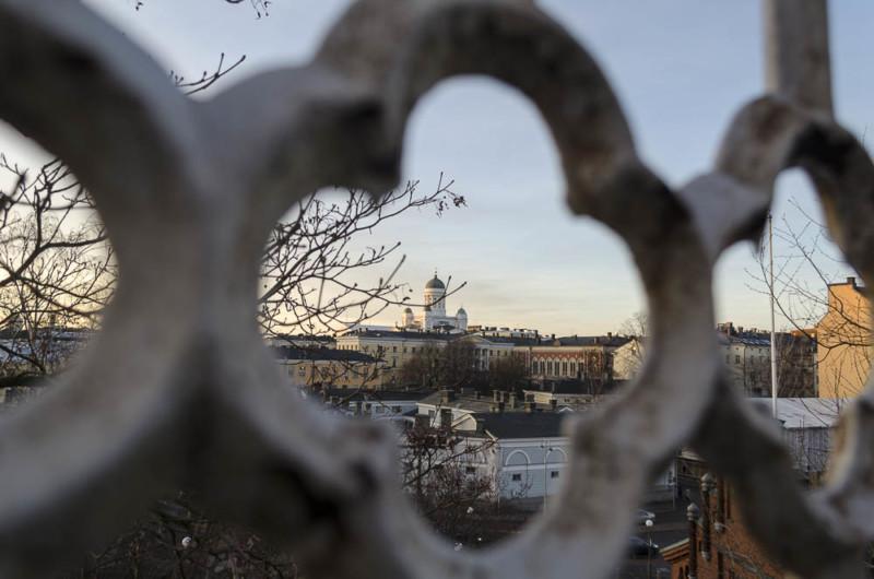Ausblick über Helsinki von Uspenski Kathedrale in Helsinki