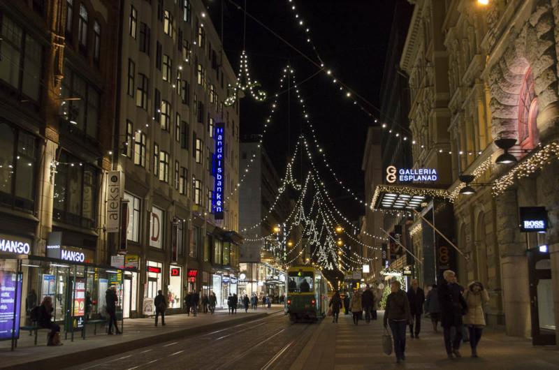 Weihnachtliche Stimmung in Helsinki