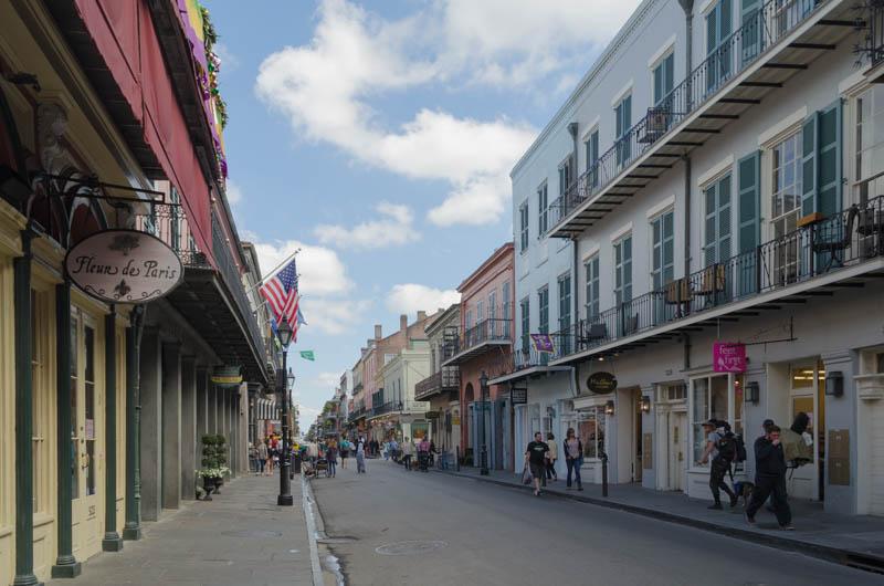 Typische kleine Straße im French Quarter
