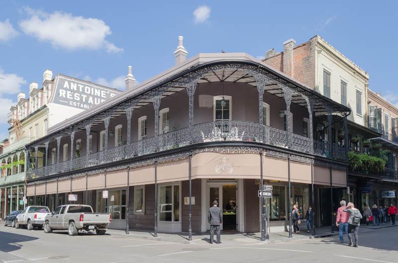 Typische koloniale Gebäude im French Quarter von New Orelans