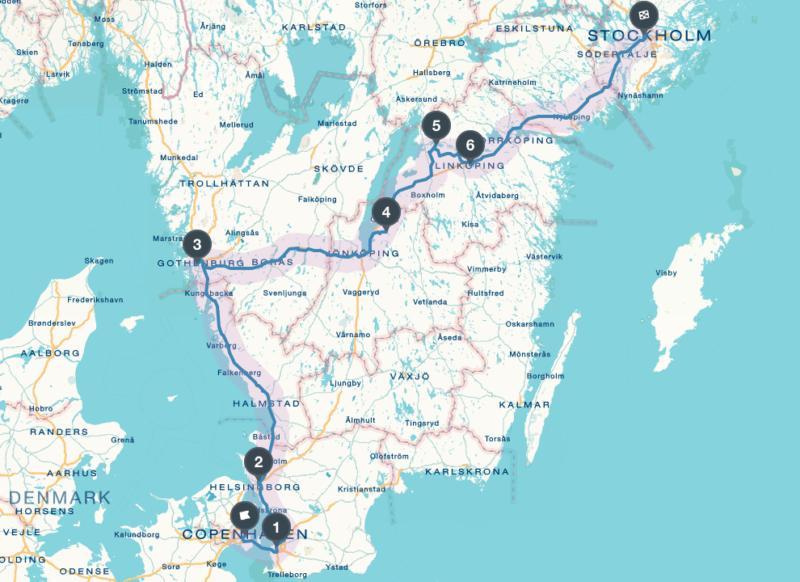 Schweden Roadtrip - die Route