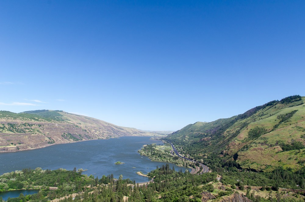 Oregon Rundreise: Rowena Crest