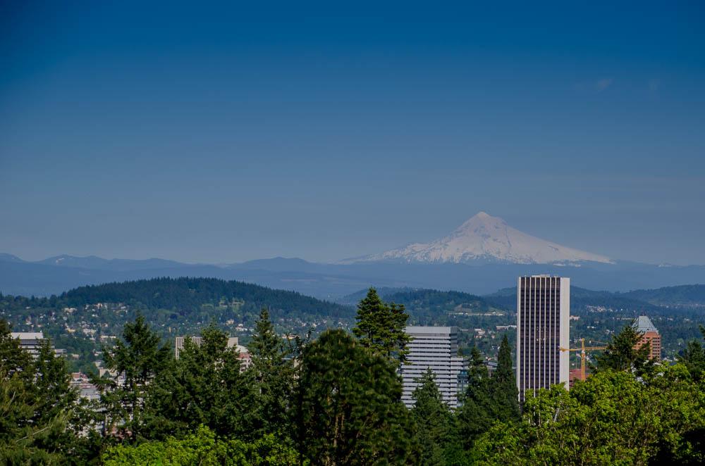 Oregon Ausblick über Portland