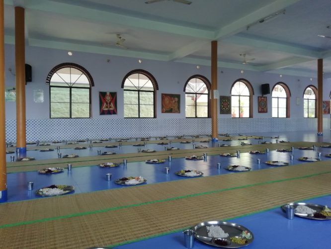Essensaal im Yoga Ashram